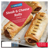 Greggs Limited Edition 3 Steak & Cheese Rolls 335g
