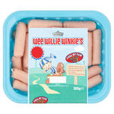 Hall's Wee Willie Winkie's 20 Mini Pork Skinless Sausages 205g