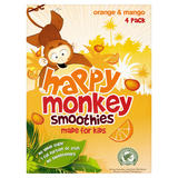 Happy Monkey Smoothies Orange & Mango 4 x 180ml