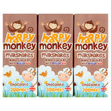 Happy Monkey Chocolate Milkshake 9 x 200ml