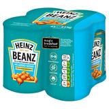 Heinz No Added Sugar Beanz 4 x 415g