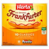 Herta 10 Classic Frankfurters Hot Dogs 350g