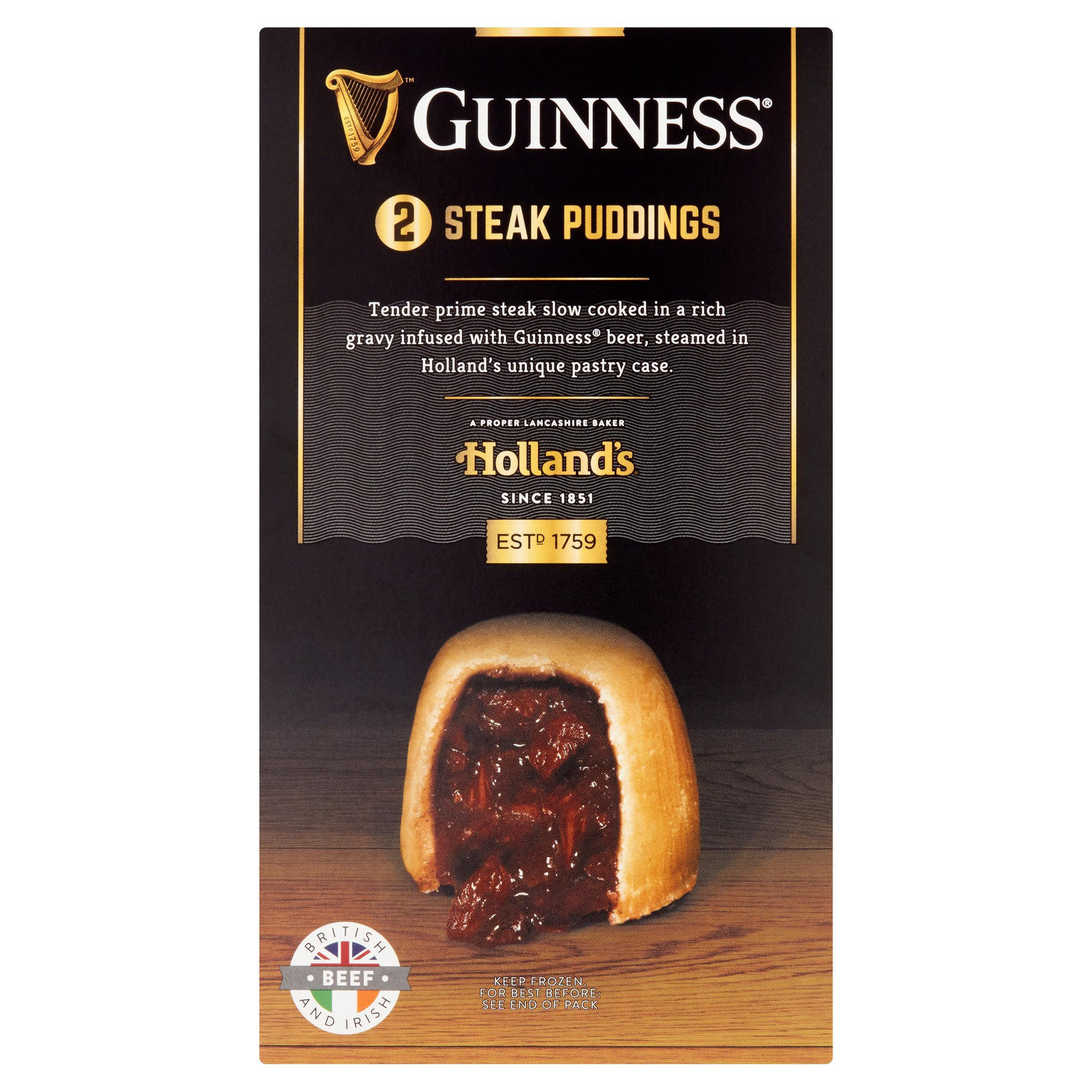 Holland's Guinness 2 Steak Puddings | Pies & Puddings ...