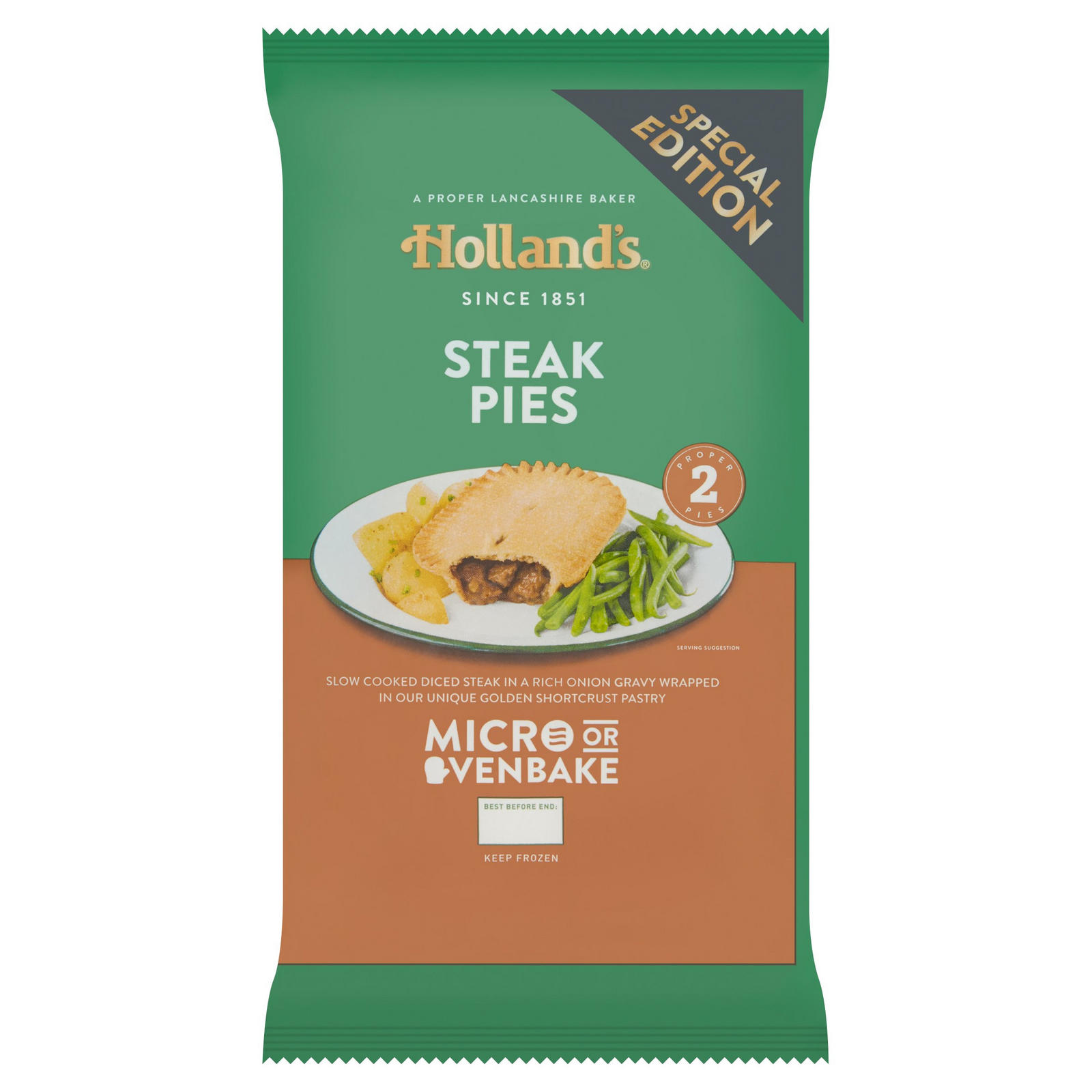 Holland's 2 Steak Pies | Pies & Puddings | Iceland Foods