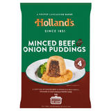 Holland's 4 Minced Beef & Onion Puddings