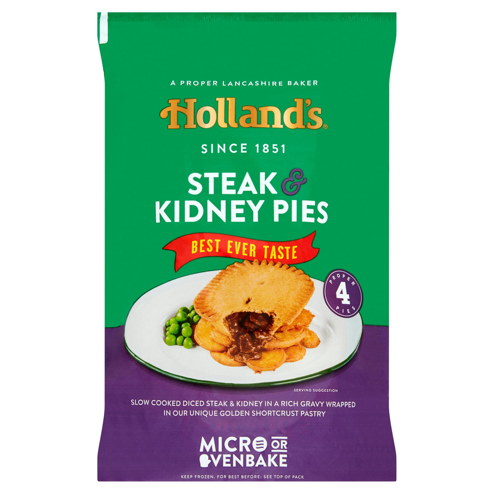Holland's 4 Steak Kidney Pies | Pies & Puddings | Iceland ...