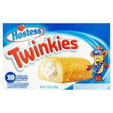 Hostess 10 Twinkies Golden Sponge Cake with Creamy Filling 385g