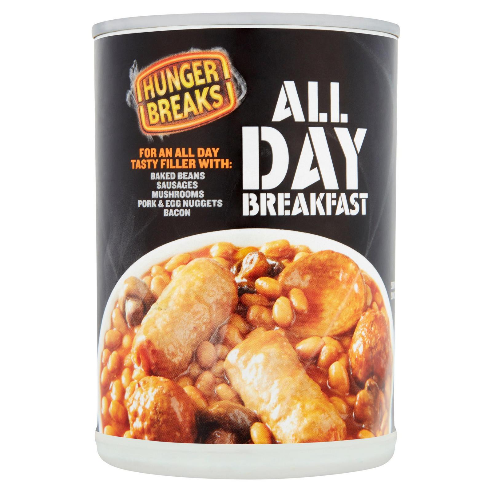 Hunger Breaks All Day Breakfast 395g Tinned Beans