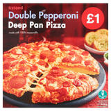 Iceland Double Pepperoni Deep Pan Pizza 346g