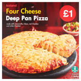 Iceland Four Cheese Deep Pan Pizza 365g