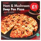 Iceland Ham & Mushroom Deep Pan Pizza 370g
