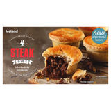 Iceland 4 Steak Pies 568g
