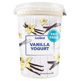 Iceland Fat Free Vanilla Yoghurt 450g