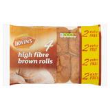 Irwin's 4 High Fibre Brown Rolls 4 +2 Free 360g
