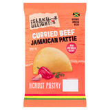 Island Delight Curried Beef Jamaican Pattie Shortcrust Pastry 140g
