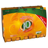 J2O Orange & Passion Fruit Fruit Blend 10 x 275ml