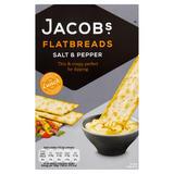 Jacob's Lunch Bakes Flatbreads Salt & Pepper 150g