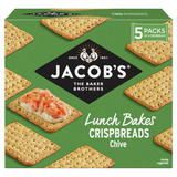 Jacob's The Baker Brothers Lunch Bakes Crispbreads Chive 190g
