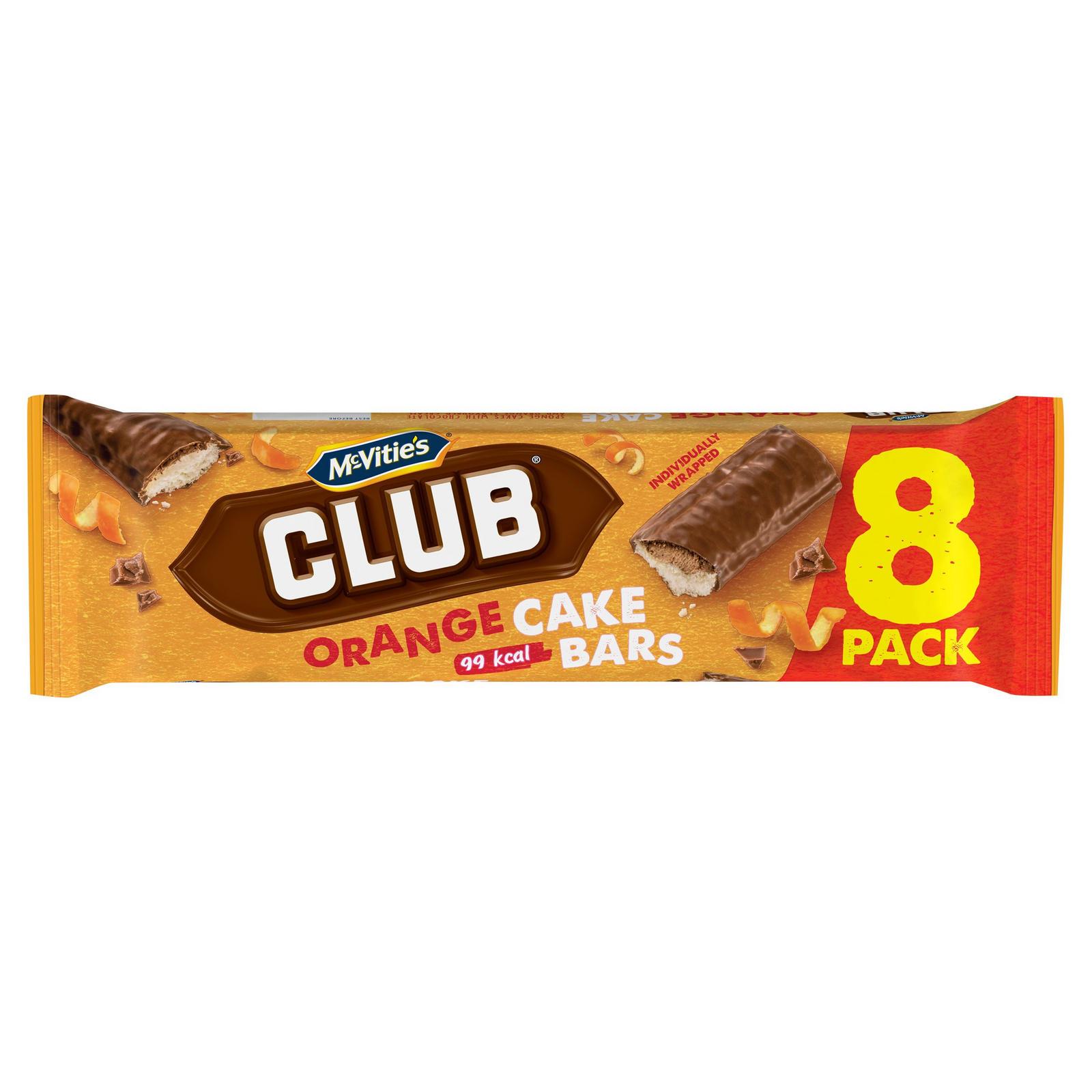 Mcvities Club 8 Orange Cake Bars Mini Rolls Cake Bars