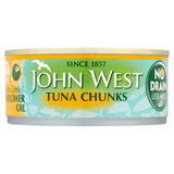 John West No Drain Tuna Chunks with a Little Sunflower Oil 120g