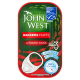 John West MSC Mackerel Fillets in Tomato Sauce 125g