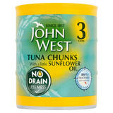 John West Tuna Chunks with a Little Sunflower Oil 3 x 110g