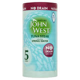 John West No Drain Tuna Steak with a Little Spring Water 5 x 110g