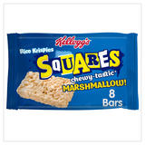 Kellogg's Rice Krispies Squares Marshmallow Snack Bar, 28g (Pack of 8)