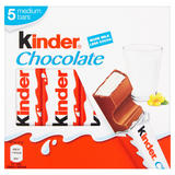 Kinder Chocolate Medium Bars 5 x 21g (105g)