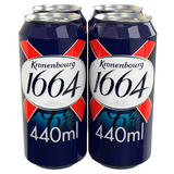 Kronenbourg 1664 Lager Beer 4 x 440ml Cans