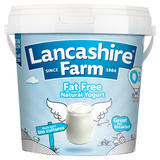 Lancashire Farm Fat Free Natural Yogurt 1kg