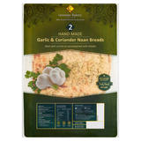 Leicester Bakery Limited 2 Hand Made Garlic & Coriander Naan Breads