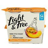 Light & Free Peach Passion Fruit 0% Fat & 0% Added Sugar Yogurt 4 x 115g