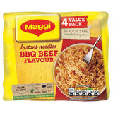 MAGGI 3 Minute Instant BBQ Beef Flavour Noodles 4 x 59g