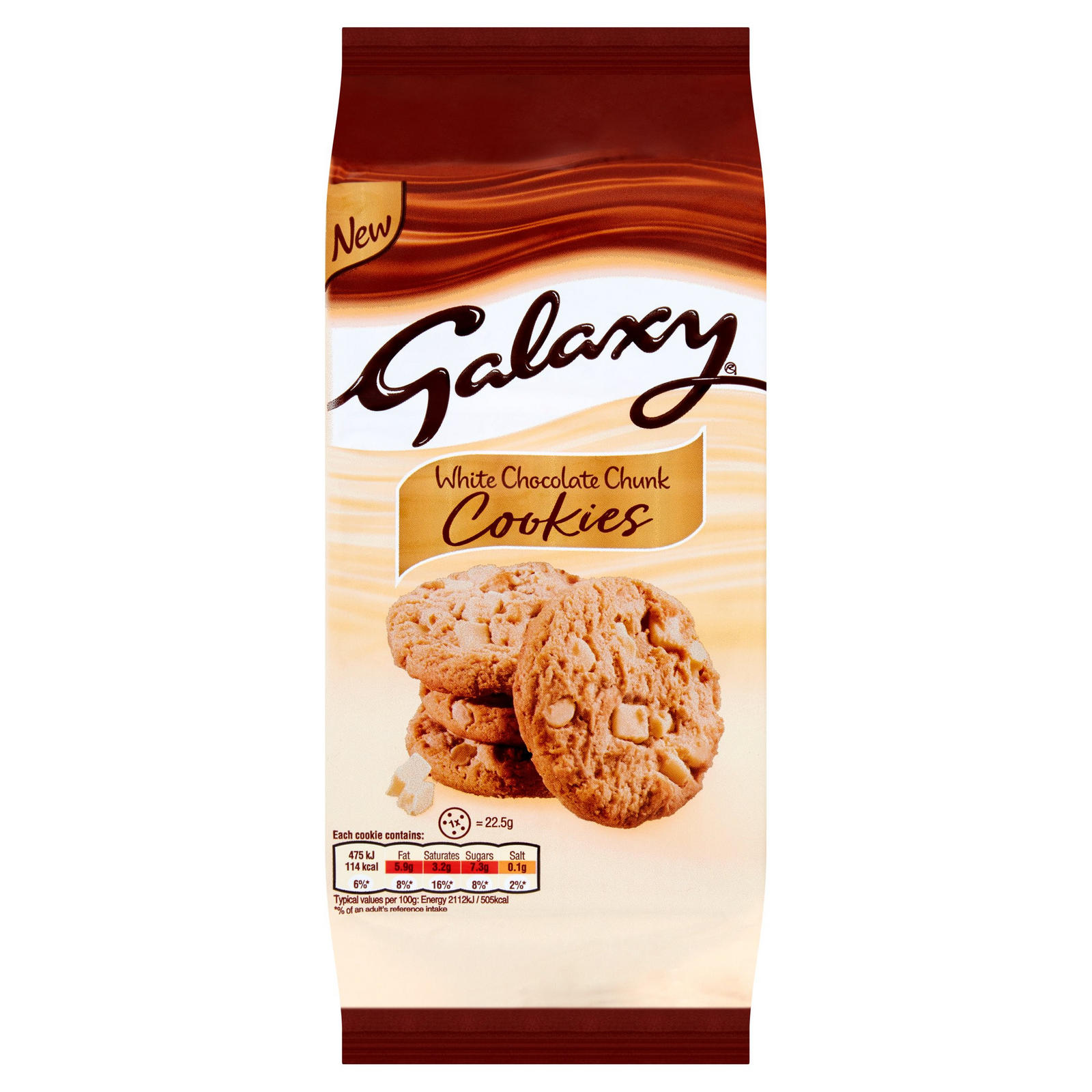 Galaxy White Chocolate Chunk Cookies 180g Sweet Biscuits