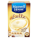 Maxwell House Latte Instant Coffee 8 Sachets 100g