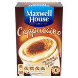 Maxwell House Cappuccino Instant Coffee 8 Sachets 108g