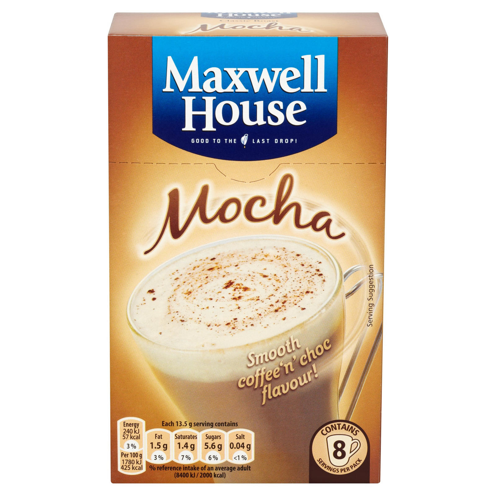 Maxwell House Classic Roast Mocha X8 Iceland Foods