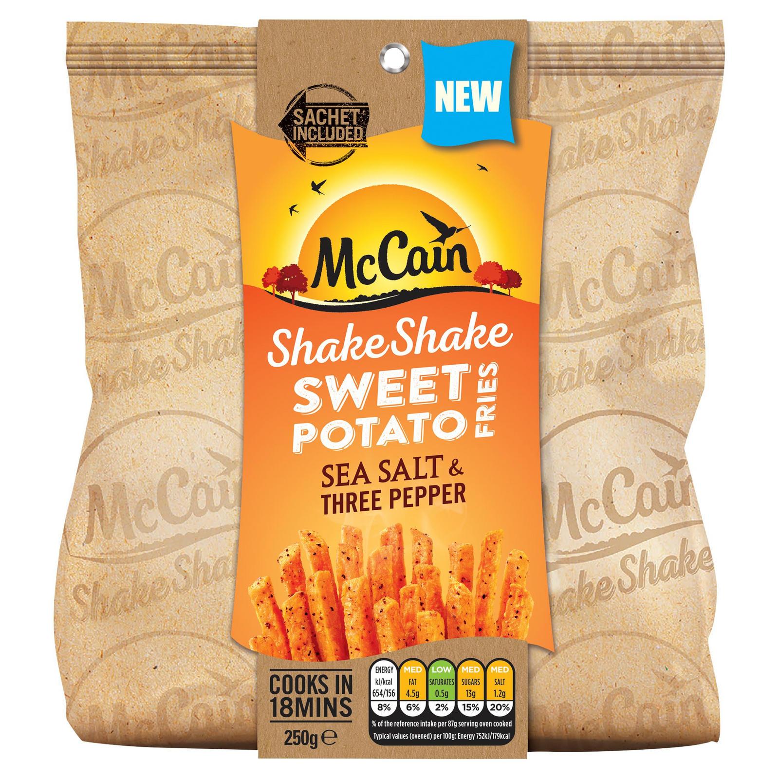 Mccain Shake Shake Sweet Potato Fries Sea Salt Three