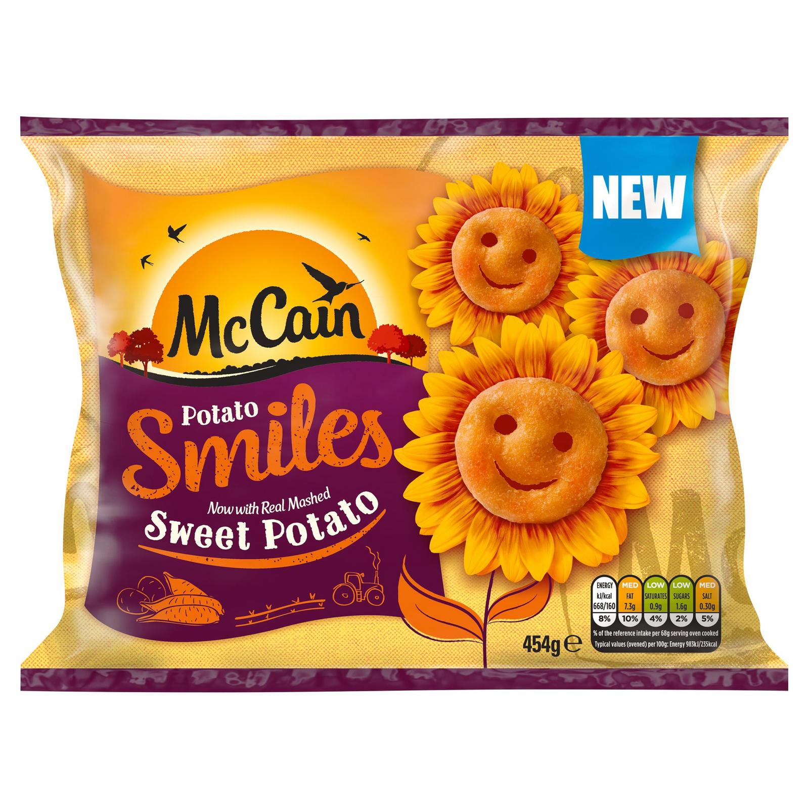 Mccain Sweet Potato Smiles 454g Potatoes Iceland Foods