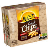 McCain Quick Chips Straight Cut 4 x 100g