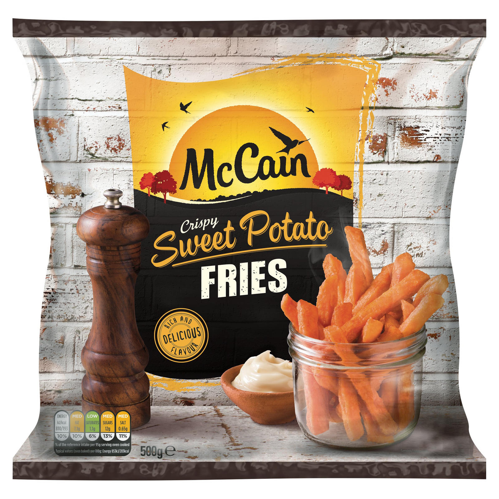 Mccain Crispy Sweet Potato Fries 500g Chips Fries
