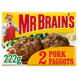 Mr Brain's 2 Pork Faggots 222g