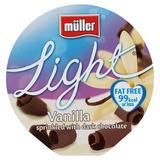 Muller Light Fat Free Vanilla and Chocolate Yogurt 165g
