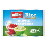 Muller Rice Apple and Raspberry Low Fat Dessert 6 x 180g