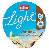Muller Light Fat Free Vanilla & Dark Chocolate Yogurt 160g