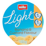 Muller Light Fat Free Banana and Custard Yogurt 160g