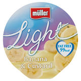 Muller Light Fat Free Banana and Custard Yogurt 175g