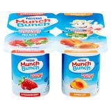 Munch Bunch Wholemilk Yogurt Strawberry & Apricot 4 x 100g (400g)