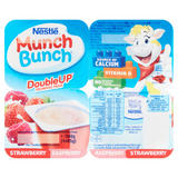 Nestlé Munch Bunch Double Up Fromage Frais Strawberry Raspberry 4 x 85g (340g)